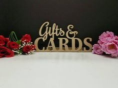 Gifts & cards sign. Gifts and cards wood sign. Gift Sign. Card