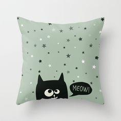 Stars Throw #Pillow by Jacek Muda - $20.00 #society6 #throwpillow #decoration #decorative #art #design #humor #childroom #kidsroom