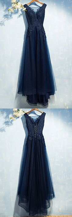 Shop Gorgeous Navy Blue Long Prom Dress Cheap With Sequin Lace online. SheProm offers formal, party, casual & more style dresses to fit your special occasions. V Neck Prom Dresses, Blue Bridesmaid Dresses, Prom Dresses Online, Cheap Prom Dresses, Modest Dresses, Homecoming Dresses, Evening Dresses, Formal Dresses, Long Dresses