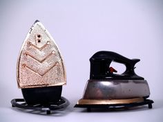 Little Irons Salt and Pepper Shakers by FoxandHenVintage on Etsy, $15.00