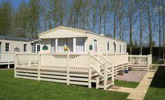 Fensys static holiday home caravan decking in cream