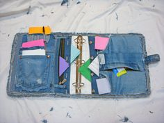 Blue Jean Denim 3 Ring Notebook Binder Cover by ljeans on Etsy
