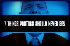 """7 THINGS PASTORS SHOULD NEVER SAY (Yep, one of them is about NOT visiting people in the hospital --do pastors not do this? ) #3 """"I don't counsel people"""" ...""""you may not visit everyone in the hospital, but you should visit someone, and you should create a system that does provide personal pastoral ministry to everyone. 'I don't visit people in the hospital, so if I show up, you know it's bad,' might sound funny from the stage, but it's a condescending position... makes people feel…"""