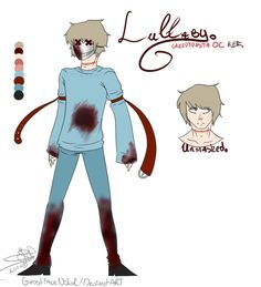 CREEPYPASTA OC REF- Lullaby (REF+INFO) by GhostfaceNikol on DeviantArt Creepypasta Oc, Creepypasta Characters, Fictional Characters, Dhmis, Scary Stuff, Creepy Pasta, Weird Facts, Horror, Fanart