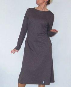 AMALFI DŁUGA - brązowa melanż r.36-54 - eM-PROFIL - Sukienki dresowe