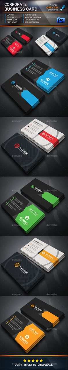 Corporate Business Card Bundle - Download…