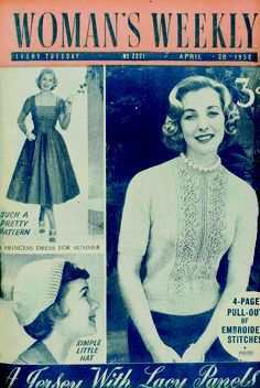 Woman's Weekly magazine from 28 April 1956 featuring a Fifties' capsule wardrobe. My Mum had this magazine in fact still does.