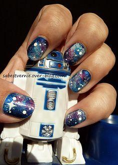 Galaxy nail art star wars ^^