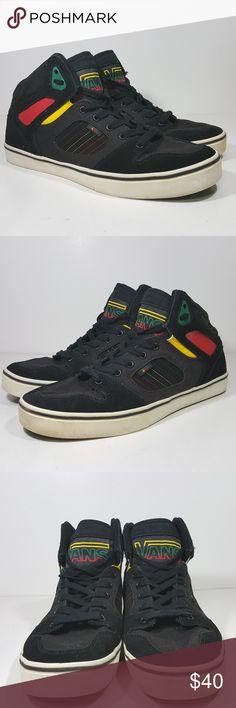1284c69478 Vans High Top Mens Size 13 Black Rastafarian Color Vans High Top Mens Size  13 Black