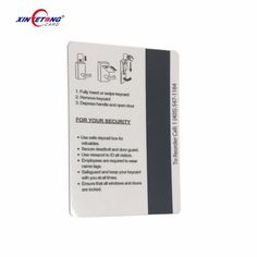 Customized high quality Hotel Key Card hotel magnetic key card with chip LF RFID EM4305