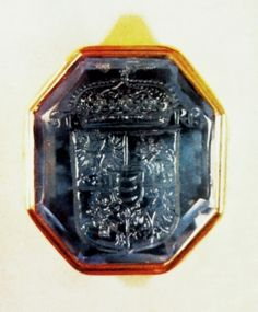 Seal ring of Stephen Báthory with 30 carats sapphire by Gabriel Domarath, after 1576, Muzeum Narodowe w Warszawie (MNW)