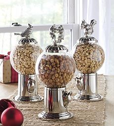 globe-snack-dispenser-and-interchangeable-finials.....adorable....great for a daily trail mix snack