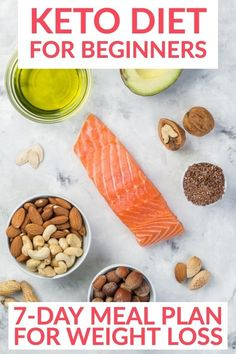 Ketogenic Diet for Beginners + 7 Day Meal Plan Looking for keto diet tips for beginners? Check out this easy Free 7-day keto diet meal plan for week one! Includes ketogenic diet recipes for breakfast, lunch, and dinner! Awesome tips for beginners with keto food lists and rules of the ketogenic diet! If you want to know how to lose weight on the keto diet, read this! Diabetic Diet Meal Plan, Diet Meal Plans To Lose Weight, Ketogenic Diet Food List, Keto Food List, Ketogenic Diet For Beginners, Keto Diet For Beginners, Keto Meal Plan, Ketogenic Recipes, Diet Recipes