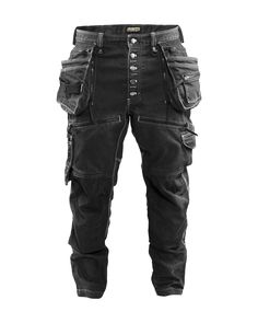 Kneepads & Holster Pockets - From Hard Hats to Safety Boots. Durable craftsman trousers with low crotch and tapered legs. Mens Work Pants, Work Trousers, Tactical Pants, Tactical Clothing, Mode Outfits, Casual Outfits, Motorcycle Pants, Armor Clothing, Herren Style
