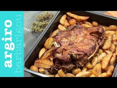 Αρνί στο Φούρνο με Πατάτες Λεμονάτες • Keep Cooking by Argiro Barbarigou - YouTube Greek Recipes, Main Dishes, Pork, Chicken, Meat, Youtube, Google, Image, Recipes