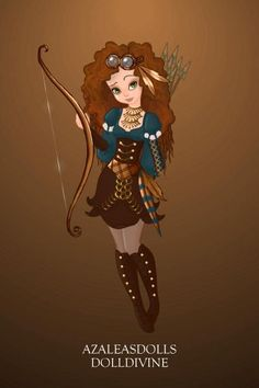 ʂŧɘąɱ ~ Steampunk & Victoriana ~ Steampunk Merida ~ by ~Zennia~ ~ created using