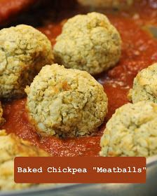 The Best Gluten Free {Recipes}: Baked Chickpea Meatballs