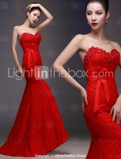 Trumpet Mermaid Wedding Dress - As Picture (color may vary by monitor) Floor -length Scoop 2015 –  99.99 53ab49b1d783