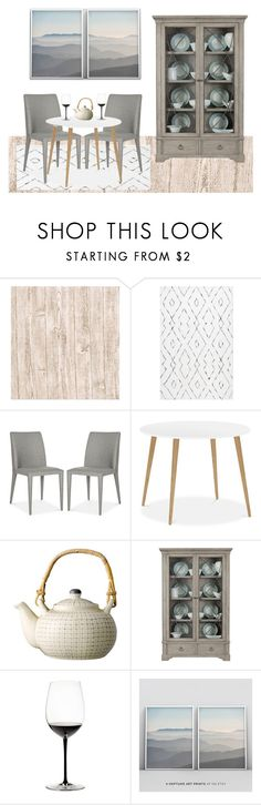 """""""Minimalist Dining Room"""" by sllamma ❤ liked on Polyvore featuring interior, interiors, interior design, home, home decor, interior decorating, nuLOOM, Bernhardt, Riedel and dining room"""