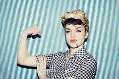 Image de girl, Pin Up, and vintage