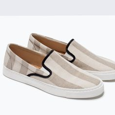 ZARA - COLLECTION AW15 - COMBINED STRIPED SNEAKERS