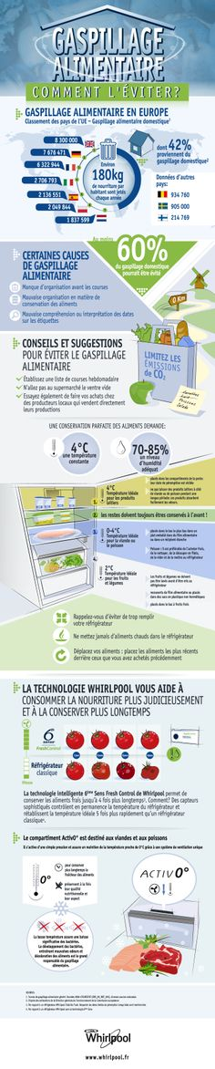 Infografica sul tema dello spreco alimentare realizzata in 5 lingue per Whirlpool / Ketchum - 2013 by #pensabenedesign #infographic