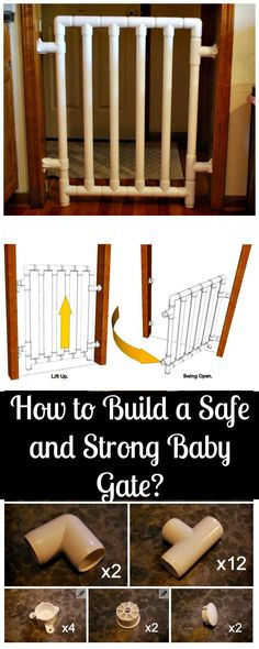 How to Build a Safe and Strong Baby Gate - 30 Best DIY Baby Gate Tutorials on Cheap Budget Diy Dog Gate, Diy Baby Gate, Diy On A Budget, Decorating On A Budget, Cheap Baby Gates, Cool Diy, Decor Crafts, Diy Crafts, Home Decor