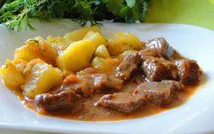 Vynikajúci rýchly obed z bravčového mäsa a vynikajúcej rýchlej omáčky.