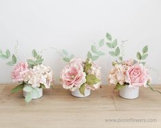 Listing for one, BLUSH Paper Flowers Wedding Centerpiece Arrangement Ready to use, Wedding Decoration, Diameter 6 inches