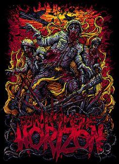 Bring me the horizon Emo Wallpaper, Graphic Wallpaper, Dark Artwork, Metal Artwork, Bring Me The Horizon, Arte Horror, Horror Art, The Black Dahlia Murder, Metal Band Logos