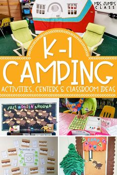 This Kindergarten Camp unit includes some great camp themed kindergarten centers for back to school. It can also be used as beginning of the year first grade plans to help students ease into the year with camp activities, camp classroom decor ideas, and more!