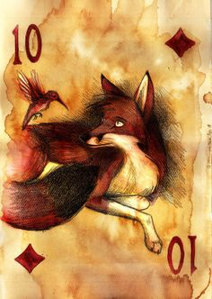 Ten of Diamonds, by Culpeo-Fox on deviantart - [Note to self: also sent to A.L. early 8-5-17]