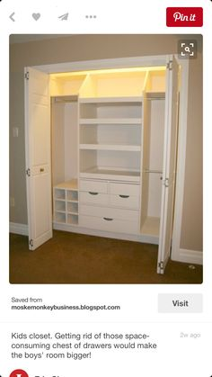 West Bedrooms 2 And Kids Closet Huge Fan Of Getting Rid Those Space Consuming Chest Drawers