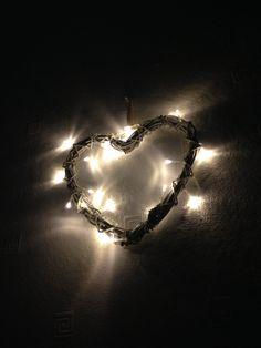 Heart fairy light  #heart #homedecor