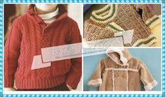 Delicadezas en crochet Gabriela: Sueter dos agujas y crochet