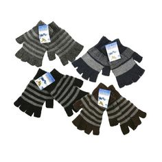 Girls' Cycling Gloves - 4 Pairs Kids Magic Fingerless Stretch Knit Winter Gloves One Size ** Be sure to check out this awesome product.