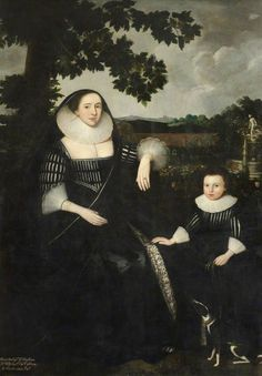 """Lady Anne Cotton, née Hoghton, with Her Son, John"", attr. Marcus Gheeraerts the younger, ca. 1618; University of Cambridge Institute of Continuing Education 4"
