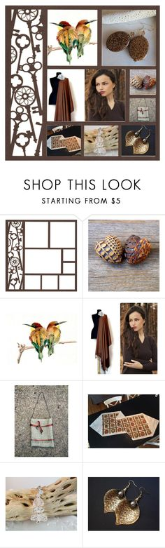 """Brown, Brown , Brown"" by inspiredbyten ❤ liked on Polyvore featuring interior, interiors, interior design, home, home decor and interior decorating"