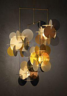 Lamp Design, Lighting Design, Ceiling Lamp, Ceiling Lights, Cardboard Sculpture, Modern Light Fixtures, Bohemian Interior, Fashion Lighting, Pendant Lamp