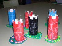 RECURSOS DE EDUCACION INFANTIL: PROYECTO CASTILLO Y MEDIEVAL Medieval Crafts, Medieval Art, Medieval Fantasy, Preschool Art Projects, Preschool Crafts, Castle Crafts, Fairy Tale Crafts, Castle Project, Château Fort