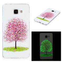 Newest Night Lights butterfly and flower pattern Soft TPU back cover cases for Samsung Galaxy A3 2016 A310 A310F phone cases