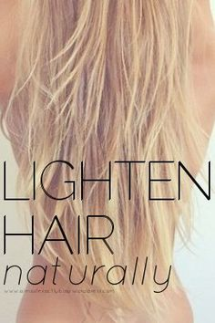 after my post about dying your hair darker with walnuts went live on AE, i've had lots of questions about how to lighten hair naturally. lightening hair is always more involved, because it involves...