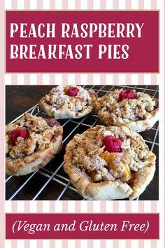 Gluten Free Peach, Vegan Gluten Free, Gluten Free Recipes, My Recipes, Raspberry Breakfast, Breakfast Pie, Breakfast Recipes, Jam Roll, Dairy Free Options