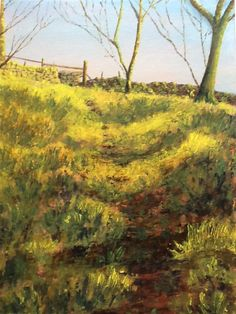 PTG Exercise 2 - Shadows on a Path by Painters-Online Team - Judy Chaudhri sent in her version of exercise saying painting ground was al. Awesome Art, Cool Art, The Artist Magazine, Underworld, Watercolours, Contemporary Artists, Diy Art, Shadows, Paths