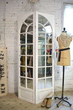 Hand made right in our studio with solid wood. Great for your any room and nursery!    FEATURES: French style mirror doors with FINISH: Painted