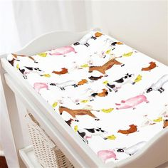 Painted Farm Animals Changing Pad Cover | Carousel Designs
