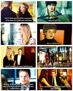 "S2 Ep6  ""Keep Your Enemies Closer"" - Felicity, Oliver & Isabel"