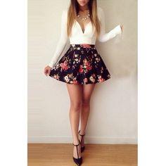 Cheap Fashion Mini Dress Long Sleeve Mini Floral Print Dress