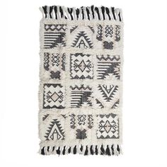 Woolen carpet in cream/black color. A great carpet with special pattern. Fabric Rug, Shabby Chic Style, Rugs On Carpet, Carpets, Pattern, Color, Waiting, Collection, Black