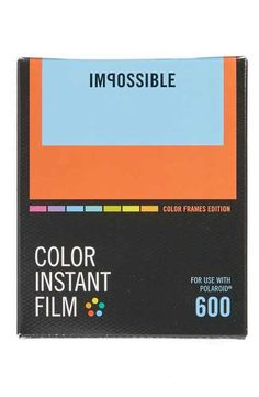 Impossible Project Polaroid 600 & Impossible I-Type Analog Square Frame Instant Color Film (8 Exposures)